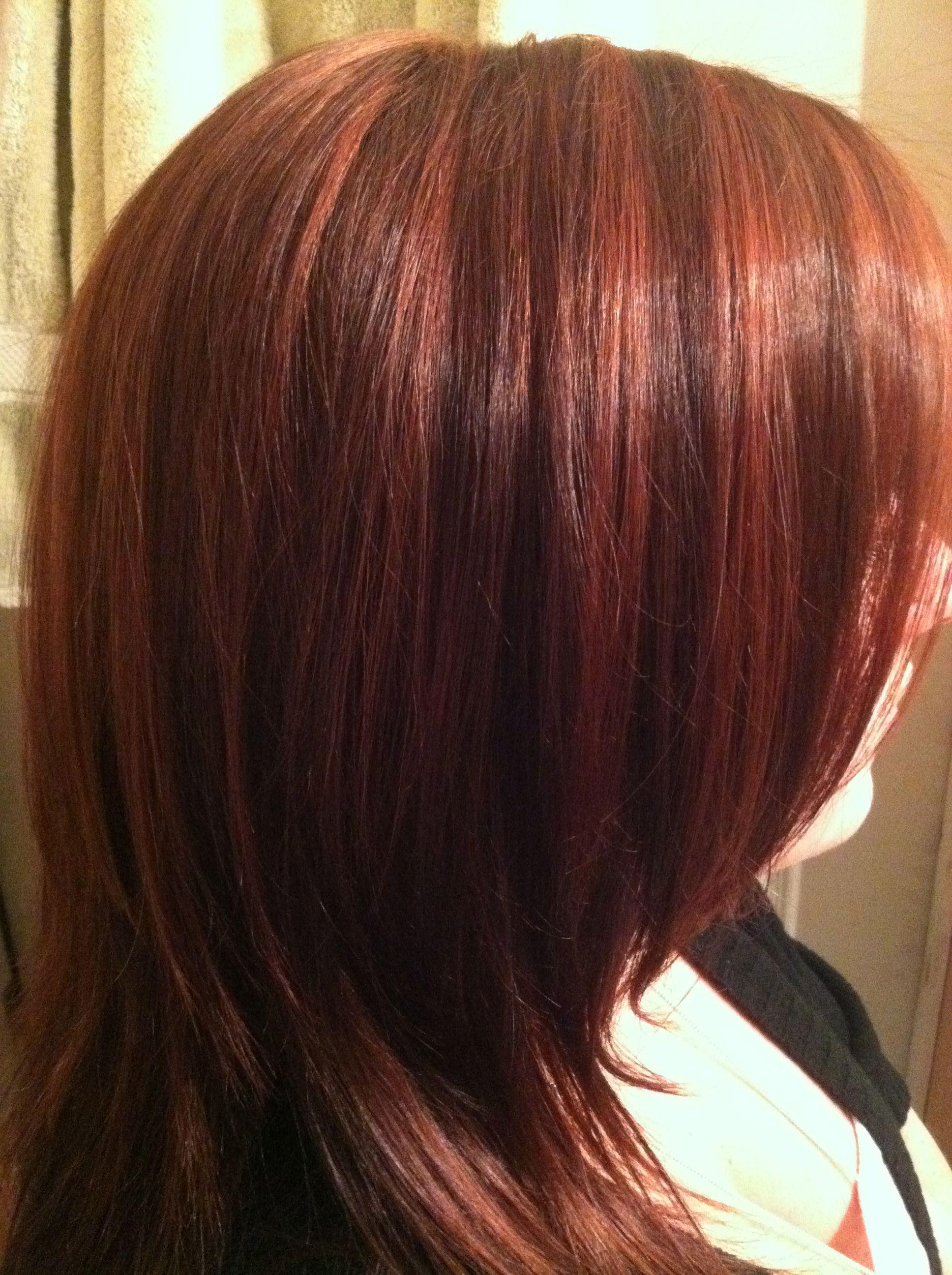 Red Lowlights W Brown Light Auburn Hair Hair Color Highlights Auburn Hair With Highlights
