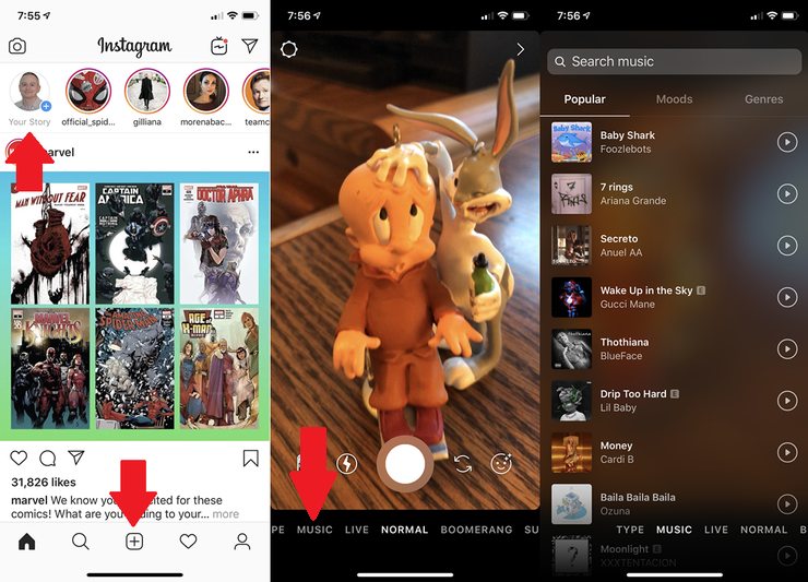 How To Add Music To An Instagram Story Add Music Instagram Story Music Stickers