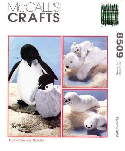 McCall's 8509 Mother's & Babies Penguins Seals Polar Bears 1996