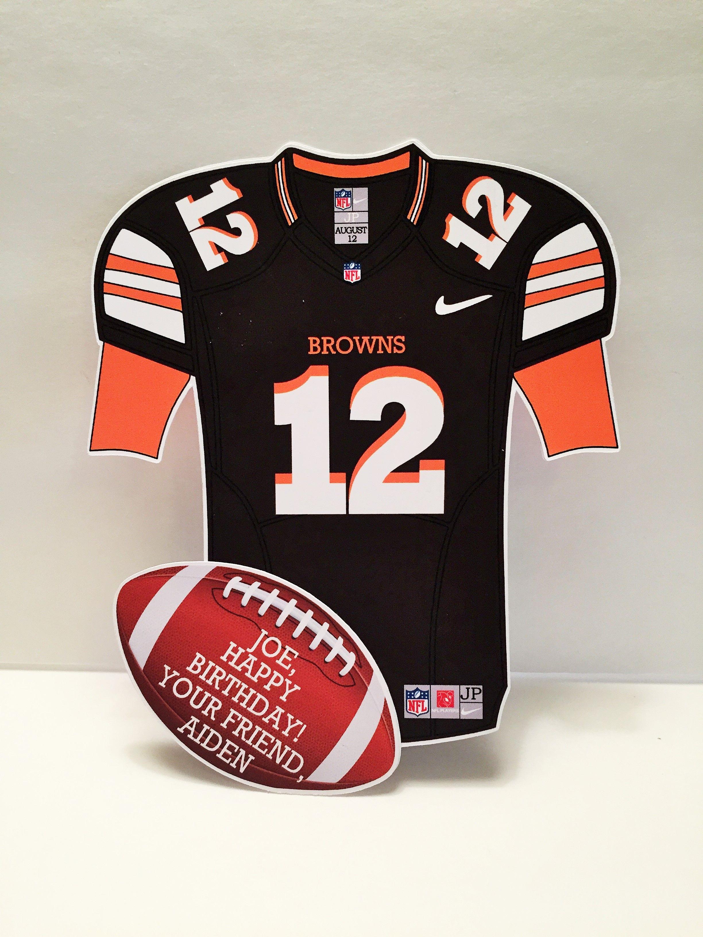 Cleveland browns football greeting card etsy football