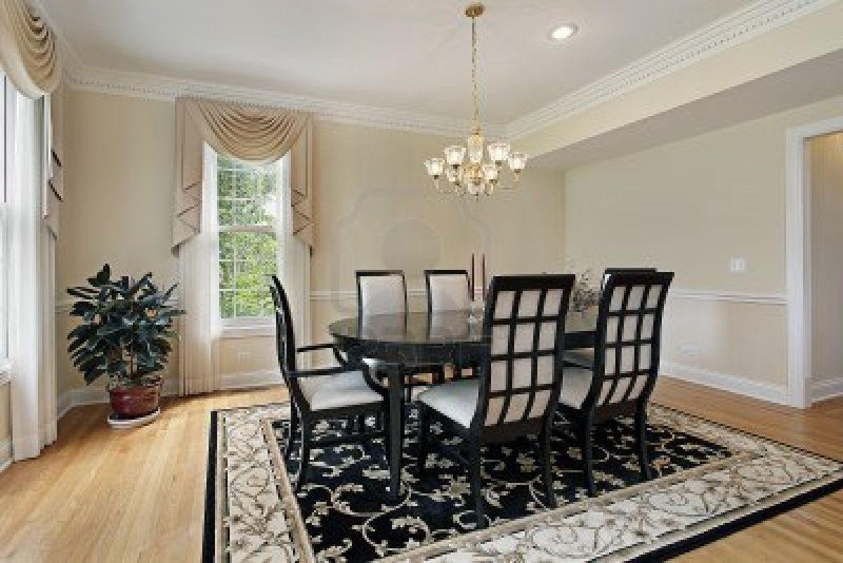 Dark Wood Dining Room Set With Ellipse Wooden Black Table Chair White