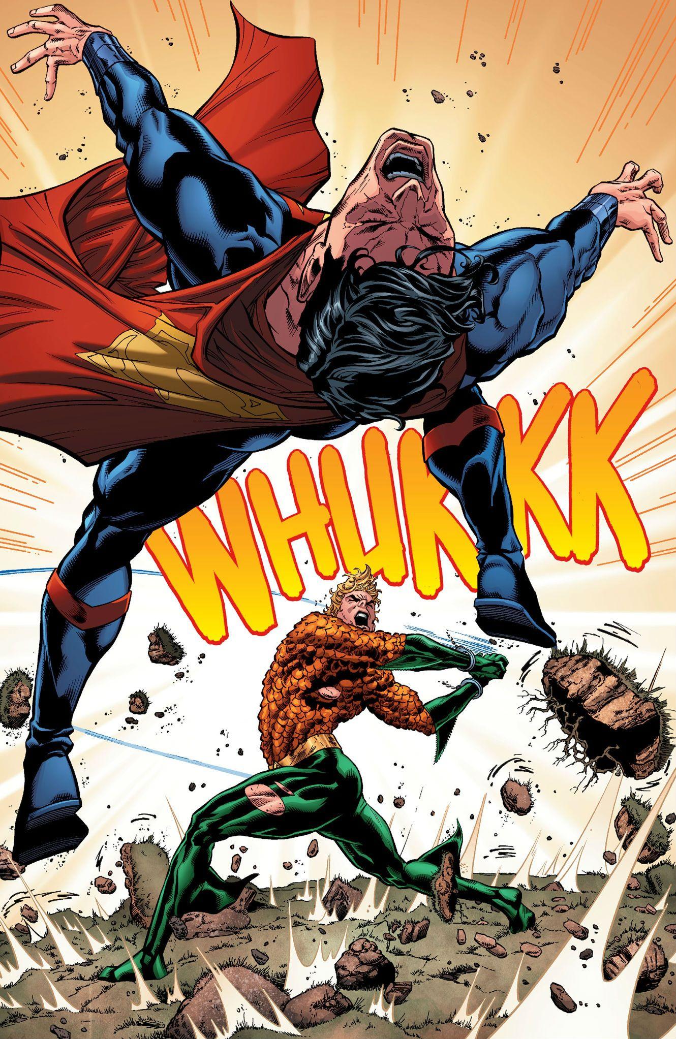 Aquaman vs Superman by Brad Walker | Comic Strip | Aquaman