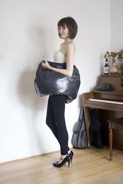 How A Trash Bag Helps You Go All By Yourself While Wearing Ol Wedding Dress Fluffy And Weddings