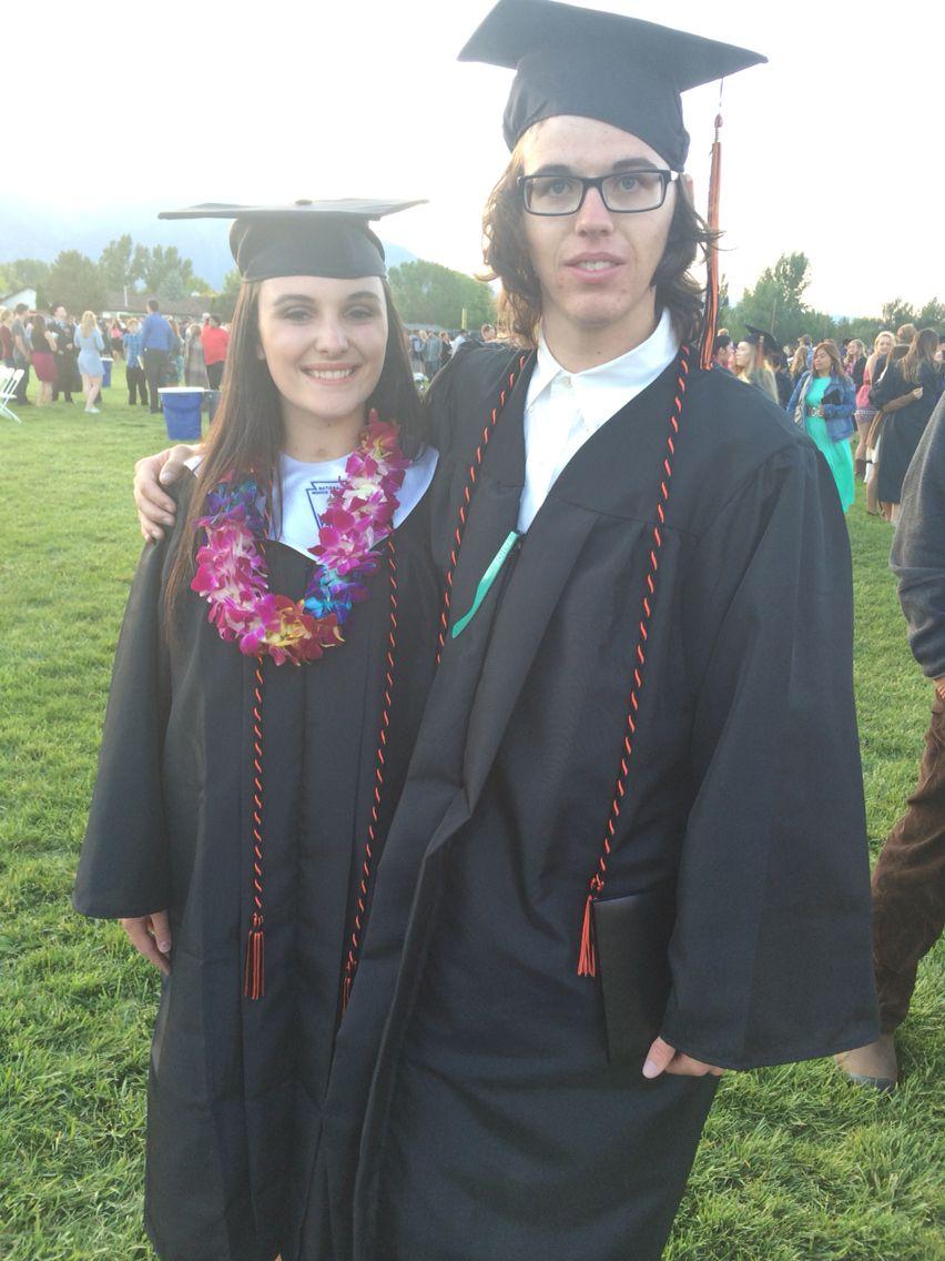 Grant and I at graduation  He was my walking partner  Sean