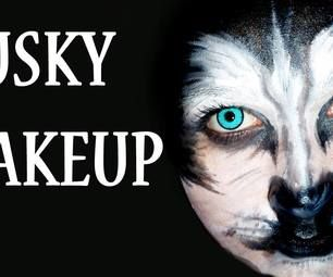 Husky face paint husky faces and tutorials husky face paint solutioingenieria Image collections