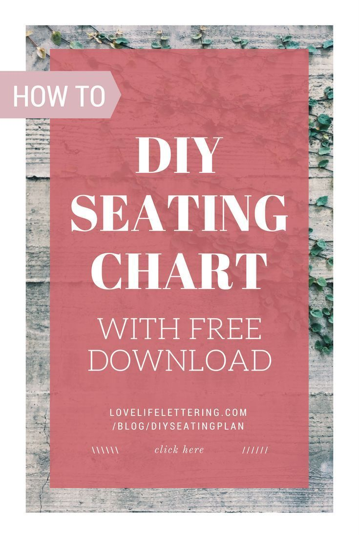 this wedding tutorial tells you how to make your own diy seating