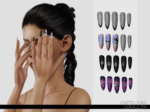 Stiletto Nails By Leah Lillith Sims 3 S Cc Caboodle