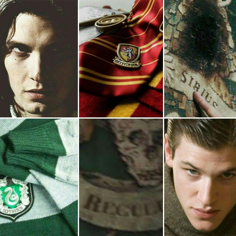 Sirius Black Regulus Black Harry Potter Aesthetic Black Brothers R A B