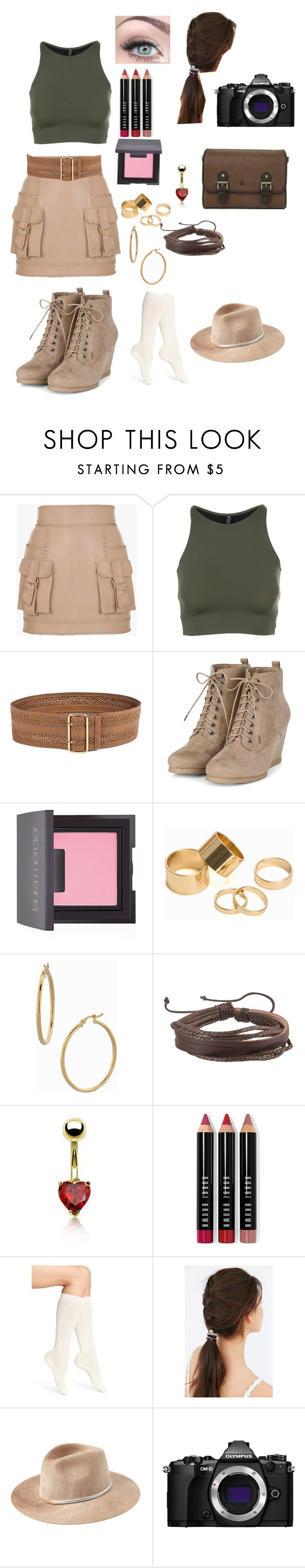 """Safari"" by goddessofbacon ❤ liked on Polyvore featuring Balmain, Onzie, Linea Pelle, Laura Mercier, Pieces, Bony Levy, Zodaca, Bling Jewelry, Bobbi Brown Cosmetics and Calvin Klein"