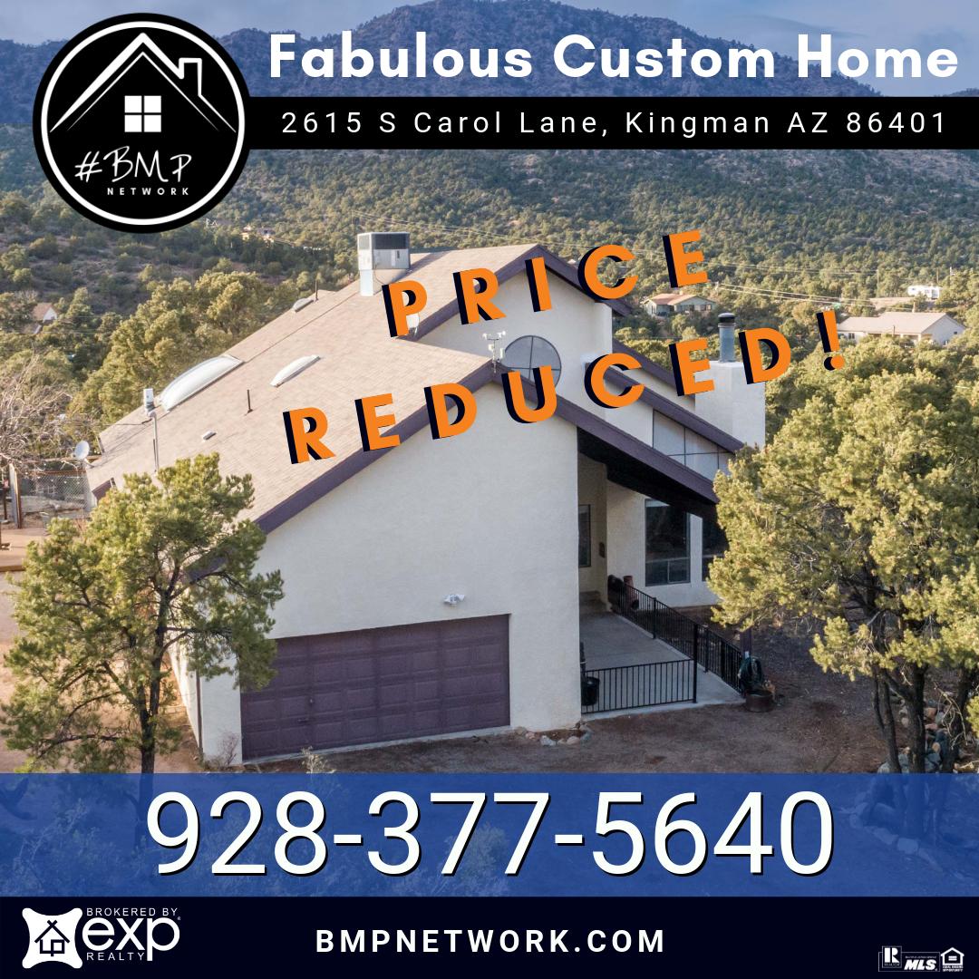Apartments In Kingman Az: PRICE REDUCED! 🔹🔹 🔑 Beautiful Custom Home With Fabulous