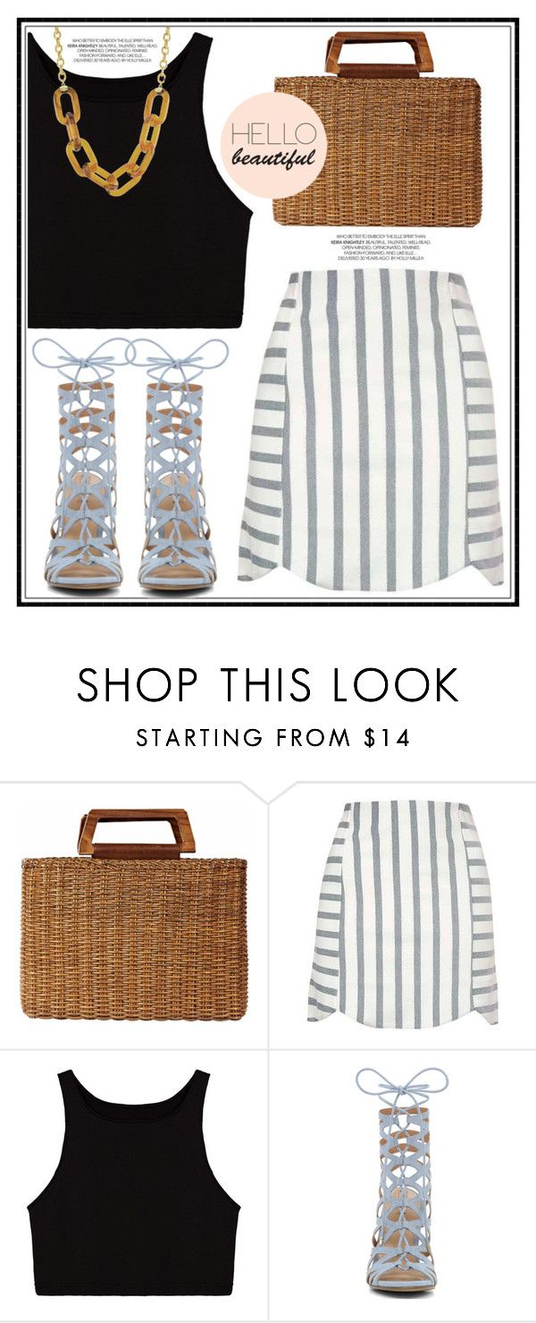 """""""Hello Beautiful..."""" by anne-symanski-goranson ❤ liked on Polyvore featuring Salvatore Ferragamo, Topshop and Kenneth Jay Lane"""