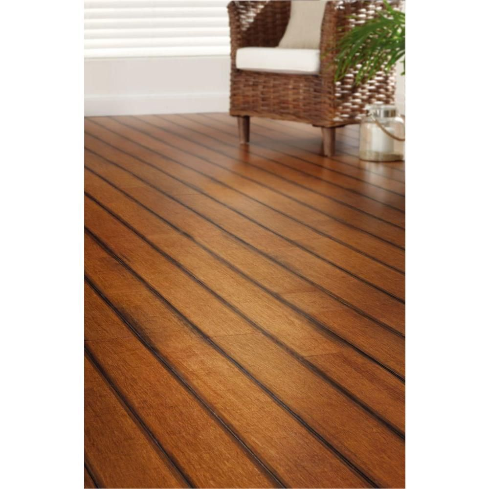 Home Decorators Collection Strand Woven French Bleed 3/8 in. x 5-1/8 in.  Wide x 36 in. Length Click Engineered Bamboo Flooring (25.625 sq.ft./case)