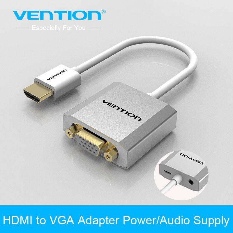 Vention Hdmi כדי Vga מתאם ממיר כבלים עם Micro Usb כוח 3 5 מ מ ממשק אודיו עבור Xbox One Ps4 Ps3 Hdtv מחשב Hdmi Vga Connector Micro Usb