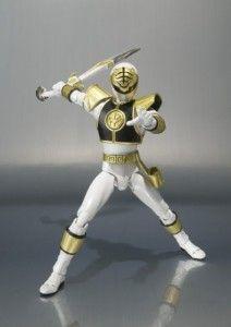 "Bandai Tamashii Nations ""Mighty Morphin Power Rangers"" White Ranger S.H. Figuarts Action Figure"