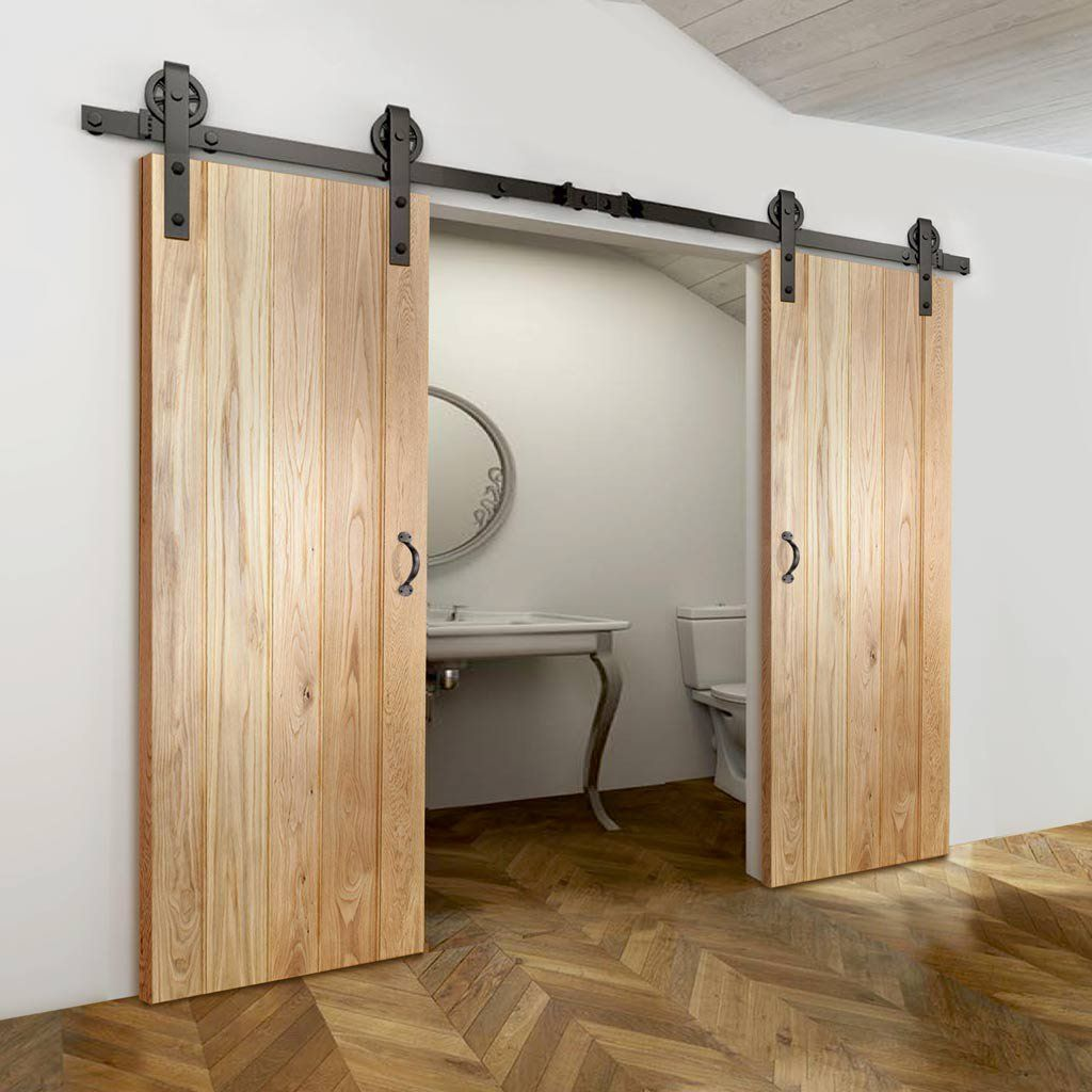 126 Reference Of Barn Door With Mirror Traditional In 2020 Barn Style Doors Inside Barn Doors Barn Door Installation