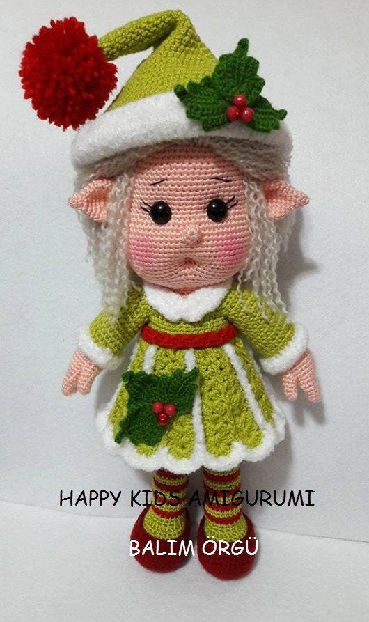 cute little miss elf amigurumi crochet pattern pdf. Black Bedroom Furniture Sets. Home Design Ideas