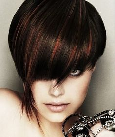 Dark hair copper highlights google search hair styles dark brown hair with red highlights next hair color pmusecretfo Image collections