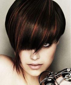 Dark hair copper highlights google search hair styles dark hair copper highlights google search pmusecretfo Choice Image