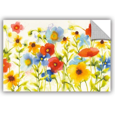 August Grove Jara Americana Meadow I Crop Removable Wall Decal Size Framed Floral Art Art Prints Trademark Fine Art