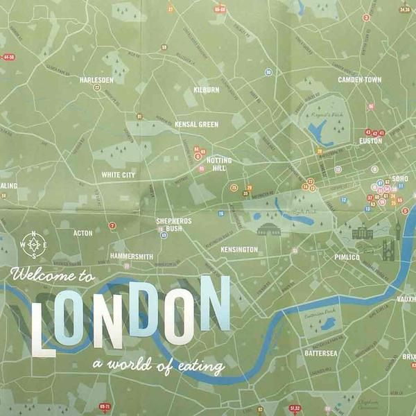Herb Lester Map London A World Eating Pinterest