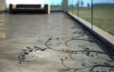 Creative Concrete Floor Patterns And Prints Flooring Architecture Interior Design