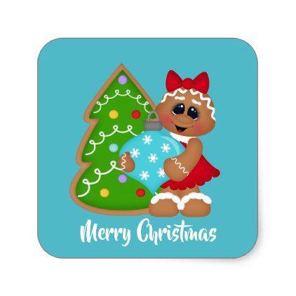 Christmas Tree Decorating Gingerbread Sticker Christmas Craft Supplies Cyo Merry Xmas Santa Claus Family Holidays