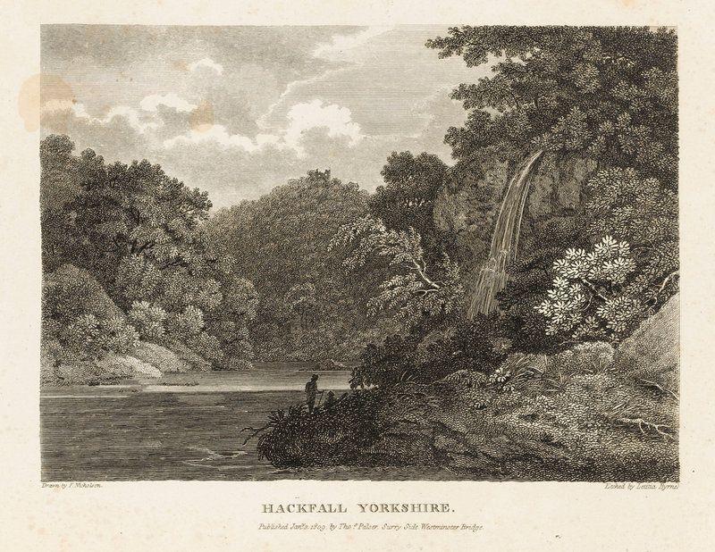 Hackfall, Yorkshire - Francis Nicholson - Royal Museums Greenwich ...