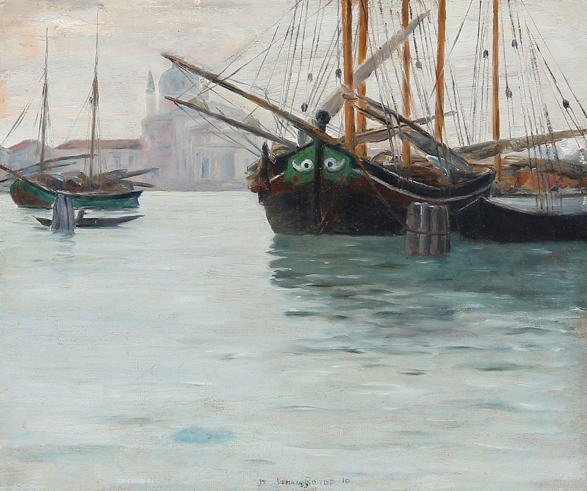 Johan Rohde 1856 1935 Den Store Kanal I Venedig 1910 Venedig Norwegen Anton