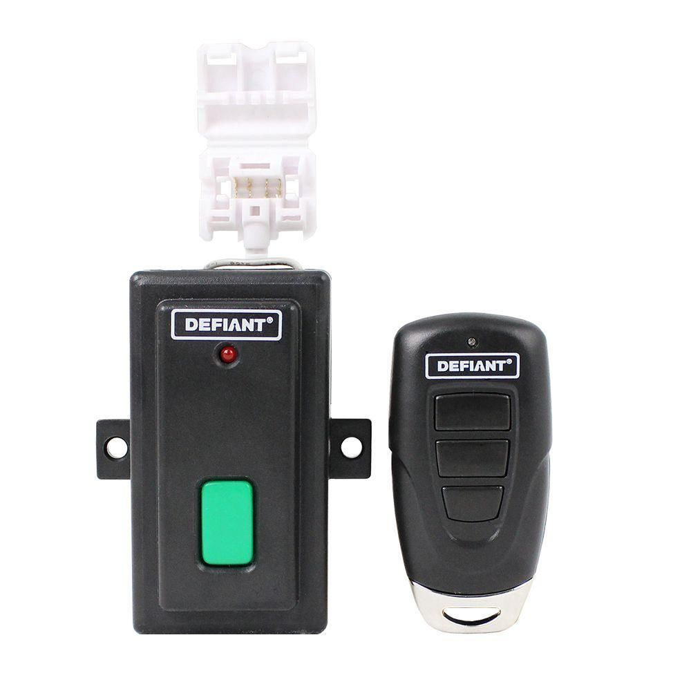 Defiant Universal Garage Door Key Chain Remote With Visor Clip