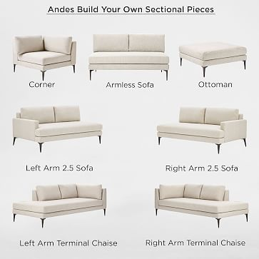 Build Your Own Andes Sectional Pieces Corner Sofa Design Sectional Green Sofa