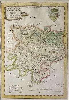 Antique Maps UK England Huntingdonshire Map By Alex Hogg Ref - Vintage maps uk