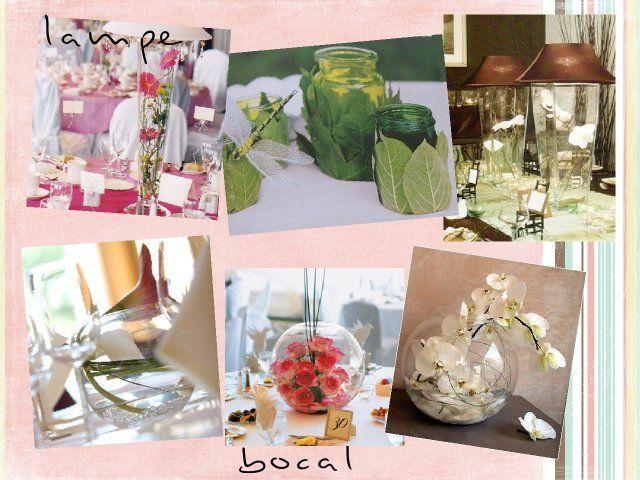 Vase Centre De Table : centre de table fleurs en vase lampe bocal ikebana arum ~ Nature-et-papiers.com Idées de Décoration