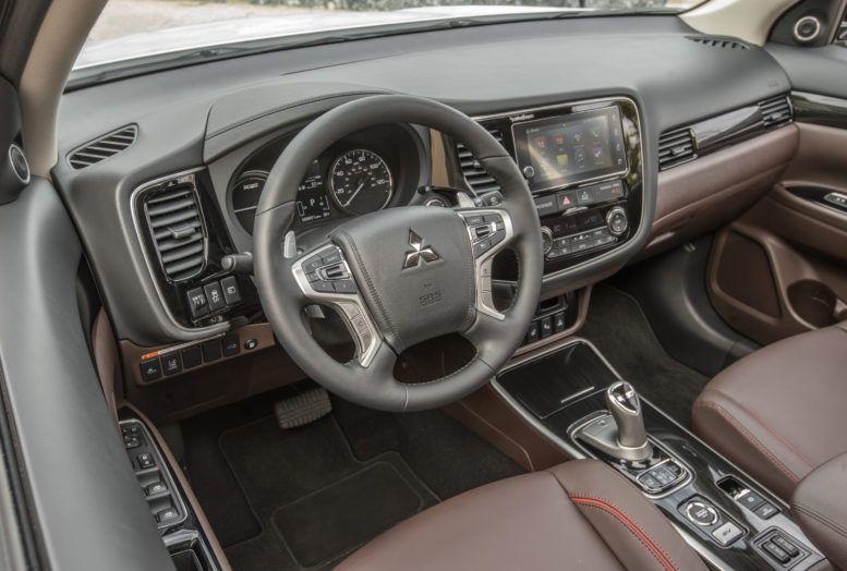2017 mitsubishi outlander phev interior dashboard the interior prides itself with sufficient spaciousness