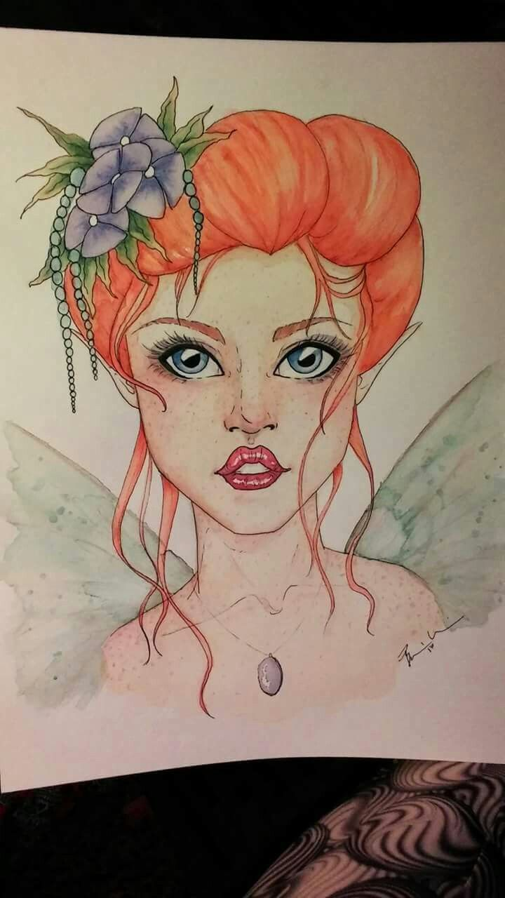 """Fae"" watercolor by Bobbie wavrin"
