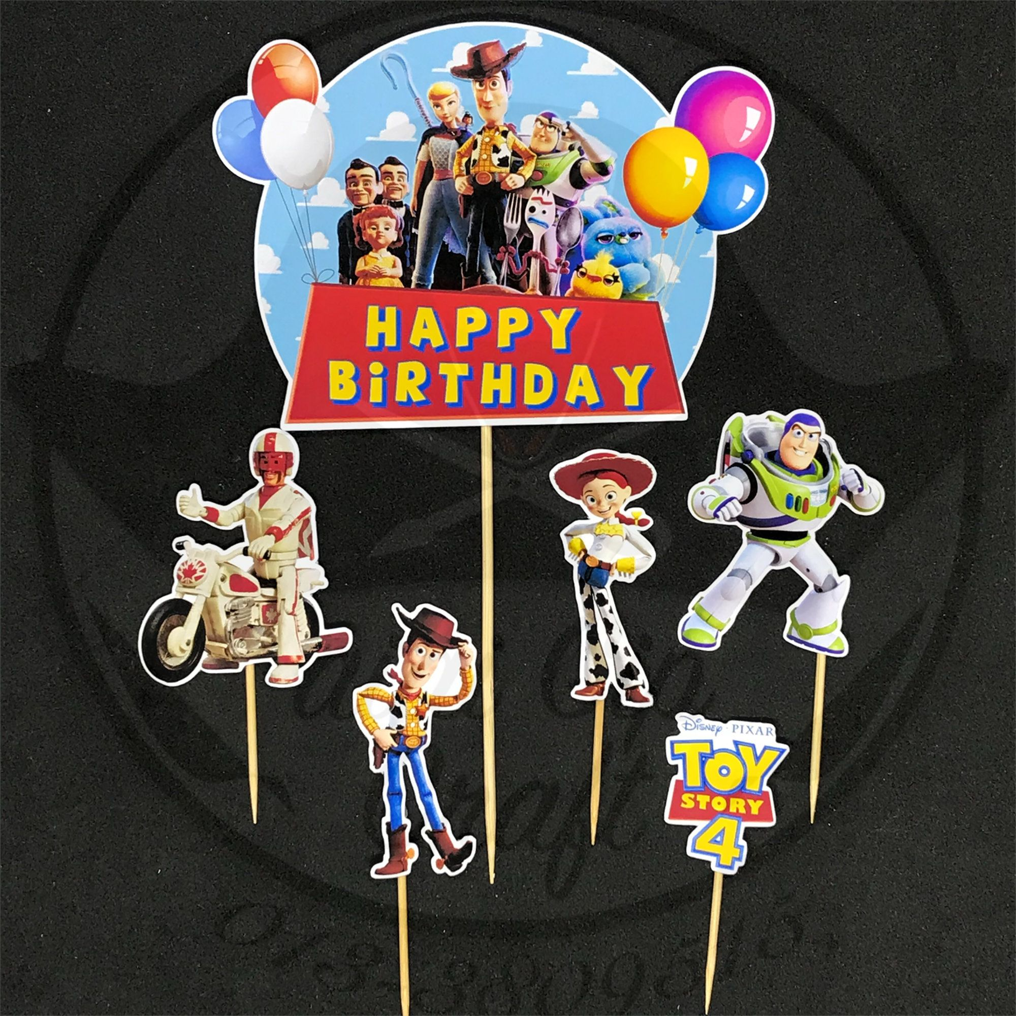 Toy Story 4 Cake Topper Template Cake Toppers Birthday