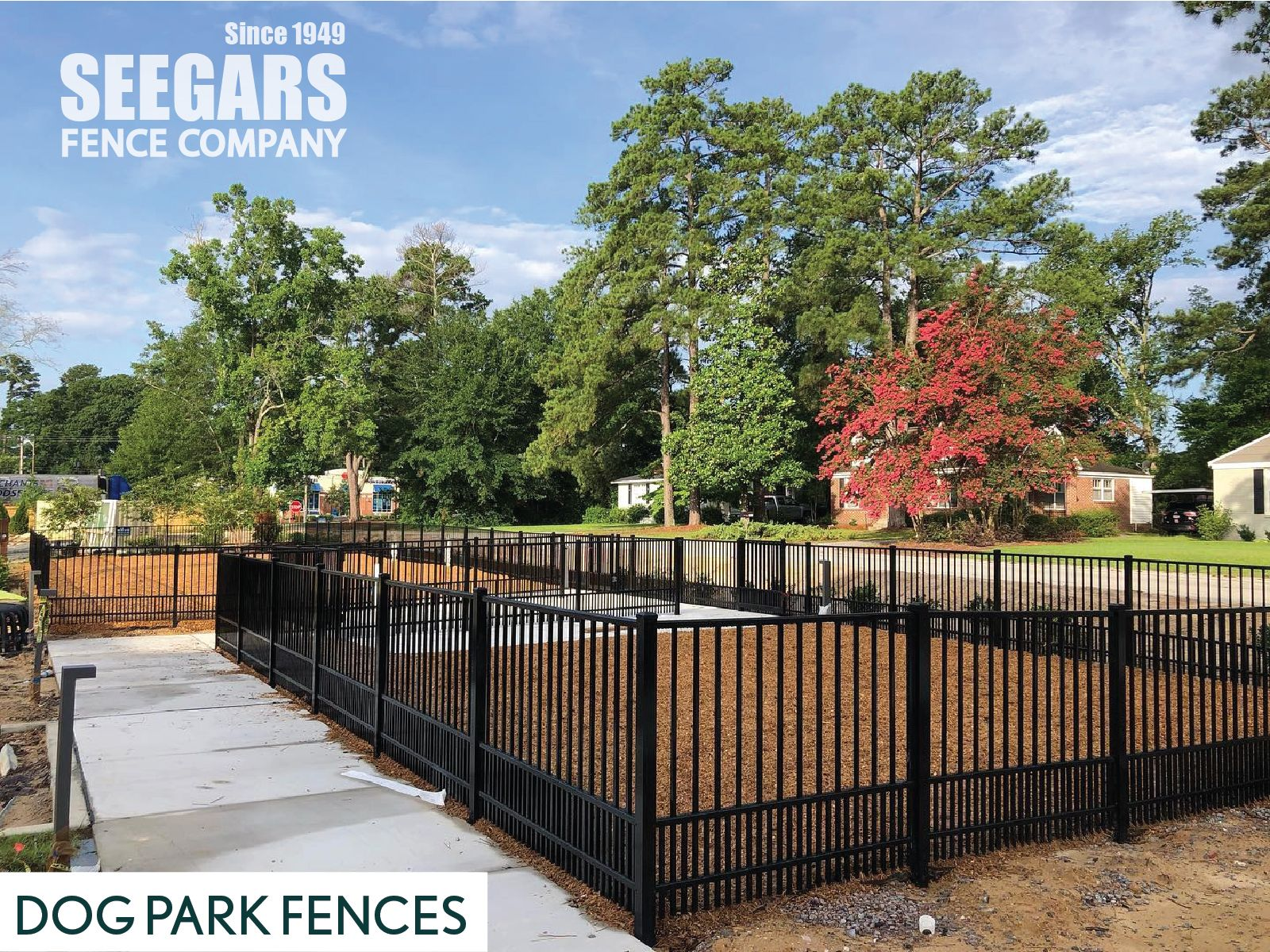 Dog Park Fences By Seegars Fence Company In 2020 Aluminum Fence Fence Fencing Companies