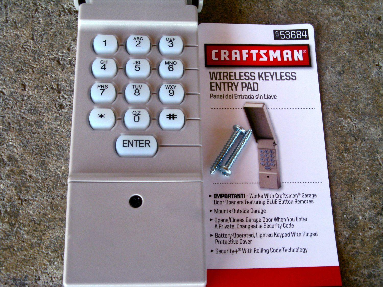 Craftsman Sears Keypad 139 53684 Garage Door Opener Remote Keyless