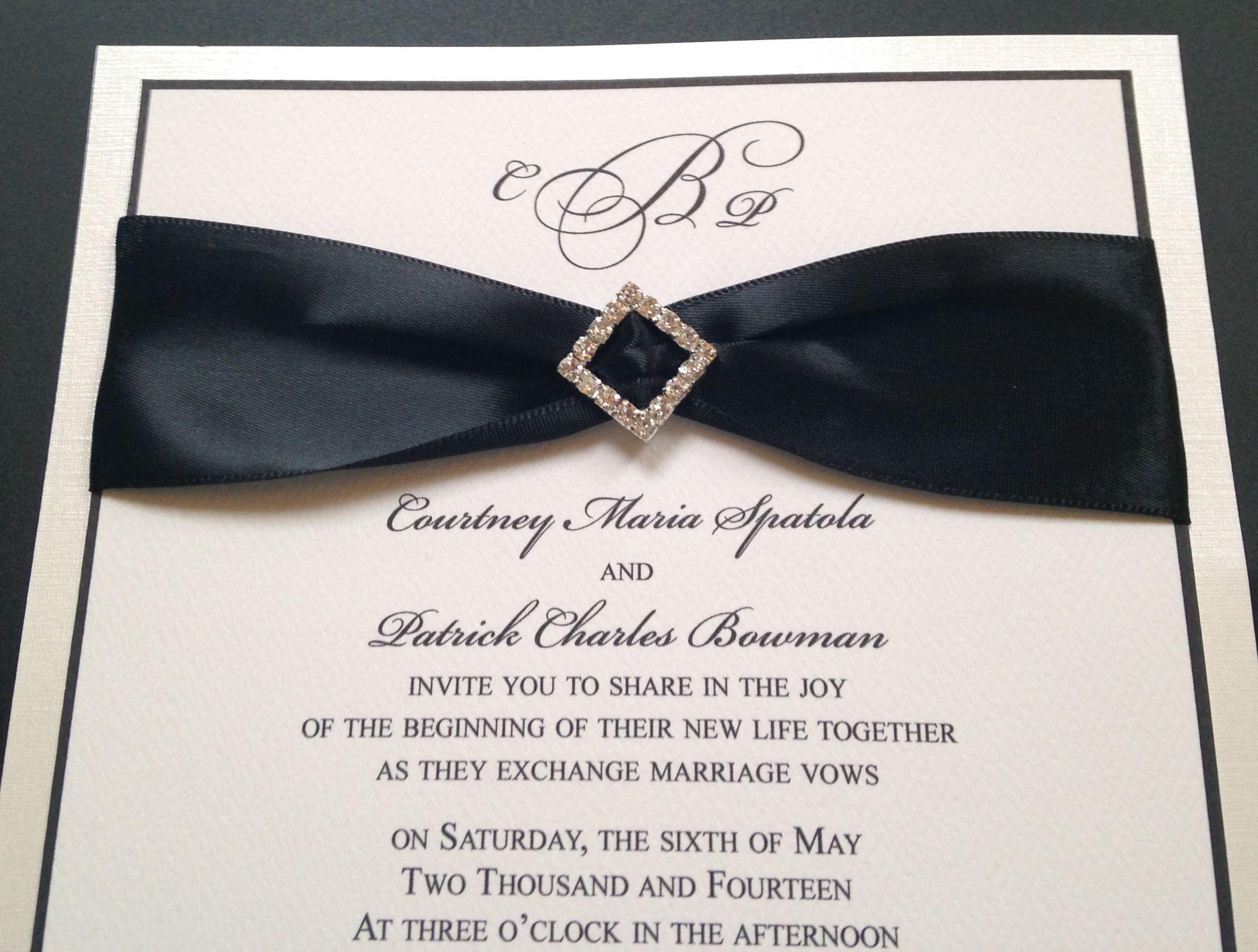 #BlackRibbon #WeddingInvitation