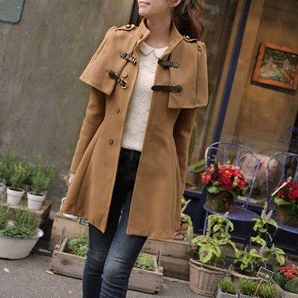 Englisch Stil Beige Mantel Mantel Beige Modestil Trenchcoat