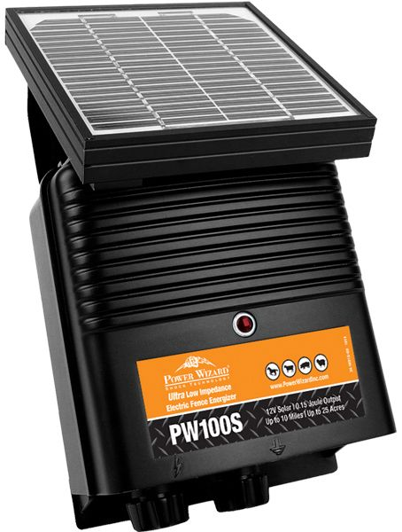 Power Wizard Pw100s Solar Electric Fence Charger Solar Electric Fence Solar Panel Cost Small Solar Panels