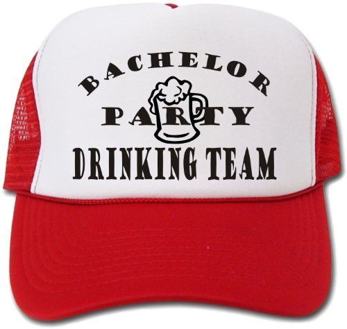 Bachelor Party Hat   Cap - Funny Drinking Team Hat  d44cab6c3387