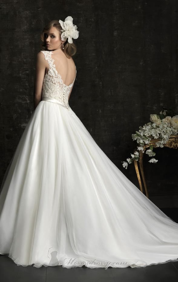 Allure bridal | allure lace tulle dress by allure bridals item 8968 ...