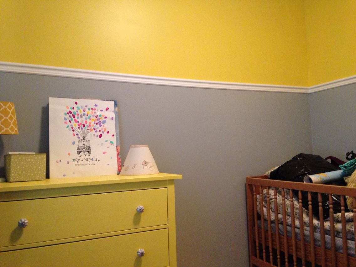 Yellow dresser with new knobs