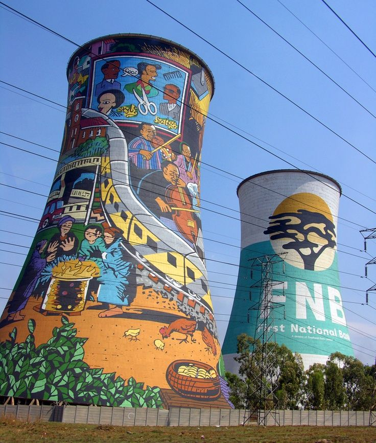 Painted Towers, Township of Sewato , South Africa