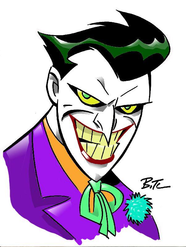 The Joker By Bruce Timm Batman Dc Comics Joker Cartoon