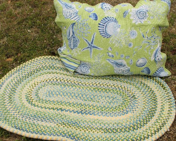 Sweet collection of braided rugs that will charm you in color and when you lay them out and step out on them, ooo they feel so lovely!