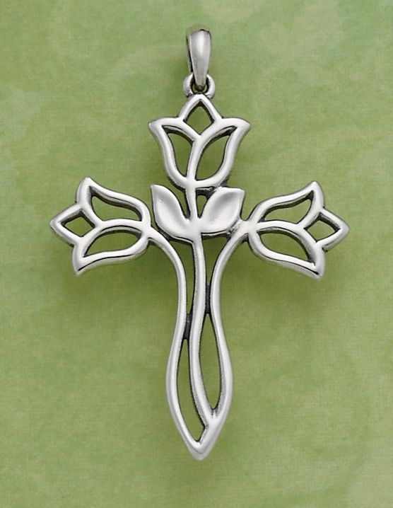 c62fba03fbf6 Flowing Lilies Cross #jamesavery #jewelry - This would be perfect ...