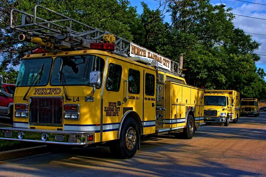 North Kansas City Mo Fire Department Photograph  - North Kansas City Mo Fire Department Fine Art Print