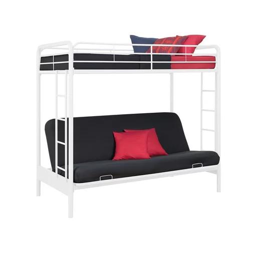 Sanders Twin Over Full Futon Bunk Bed Futon Bunk Bed Metal Bunk Beds Bunk Beds
