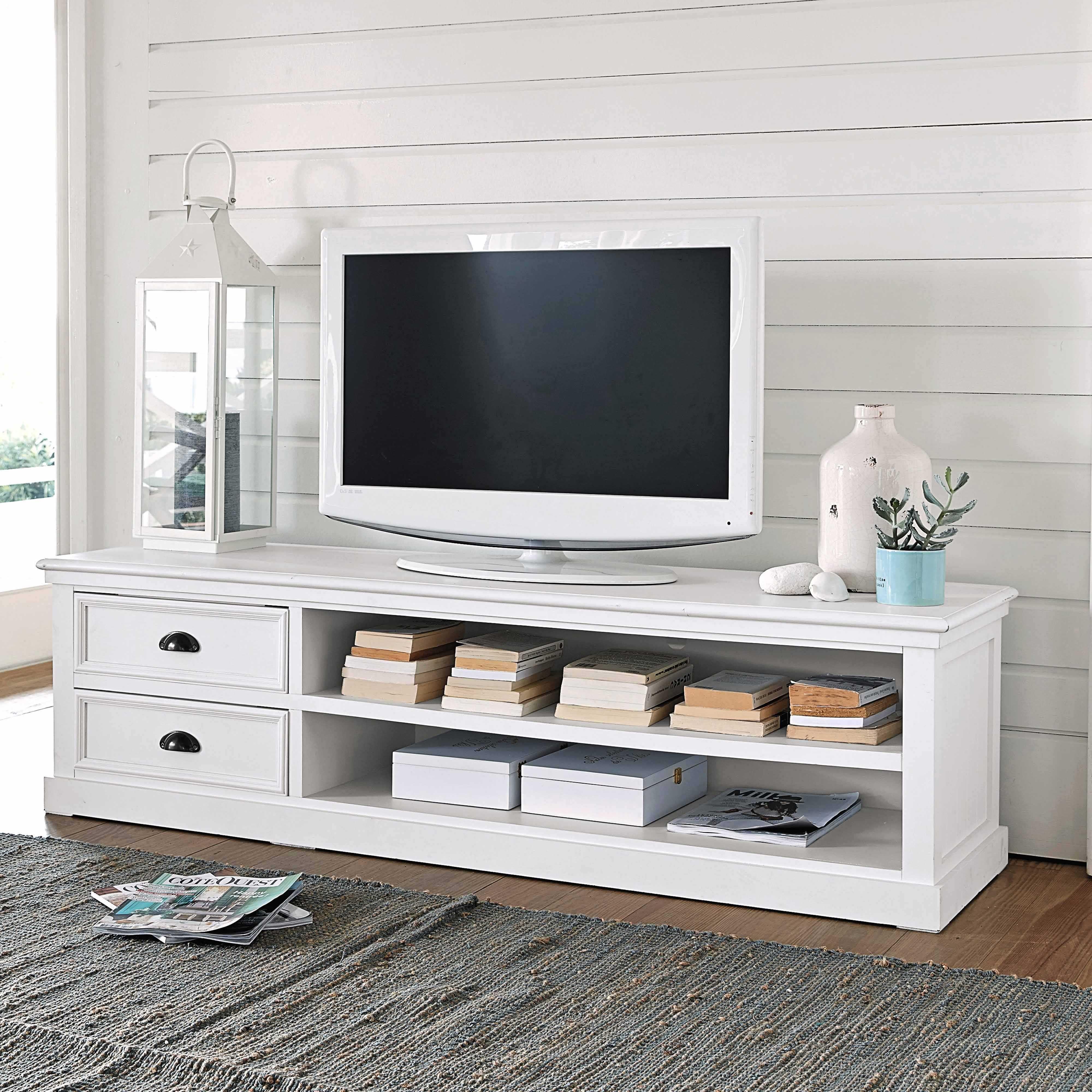 Libreria Porta Tv Maison Du Monde.Porta Tv A 2 Cassetti Bianco Designe Interni Decorazione